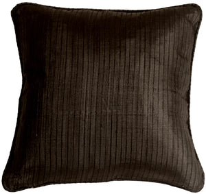 Ribbed Silk Black 17x17 Throw Pillow