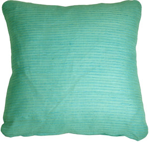 Ribbed Silk Sea Foam 22x22 Throw Pillow