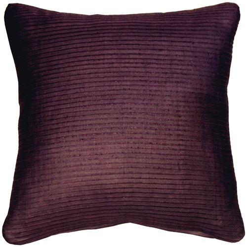 Ribbed Silk Plum Wine 17x17 Throw Pillow