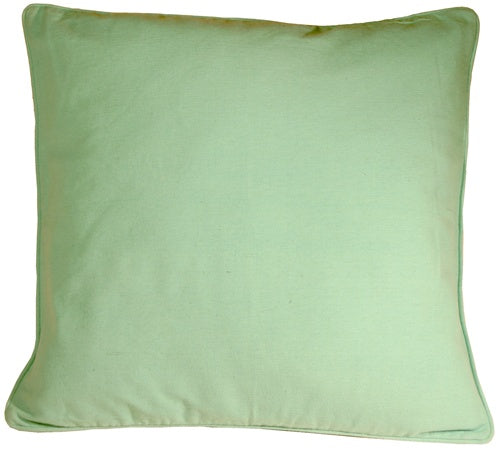 Ribbed Cotton Sea Foam 18X18 Throw Pillow