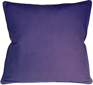 Ribbed Cotton Lilac 18X18 Throw Pillow