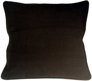 Ribbed Cotton Black 26x26 Throw Pillow