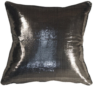 Metallic Silver 17x17 Throw Pillow