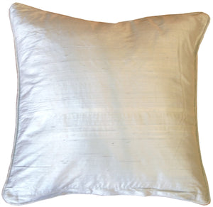 Dupioni Silk 17x17 Powder Blue with Piping Throw Pillow
