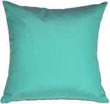 Sunbrella Aruba Turquoise Blue 20x20 Outdoor Pillow