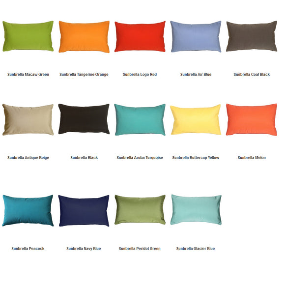 Sunbrella Lumbar Indoor / Outdoor Pillows