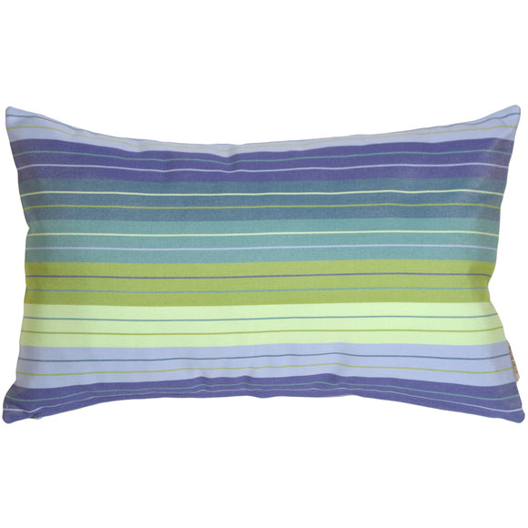 Sunbrella Seville Seaside 12x20 Striped Indoor / Outdoor Pillow