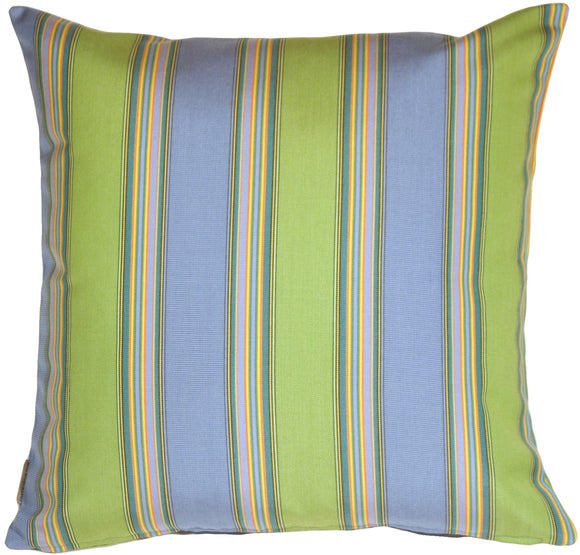 Sunbrella Bravada Limelite 20x20 Striped Indoor / Outdoor Pillow