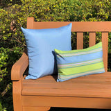 Sunbrella Bravada Limelite 12x20 Striped Indoor / Outdoor Pillow
