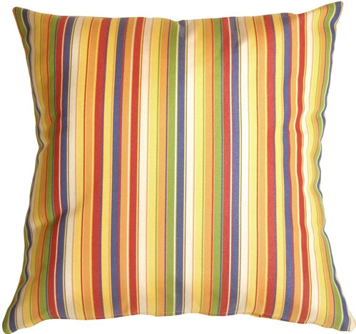 Sunbrella Castanet Beach Stripes 20x20 Outdoor Pillow
