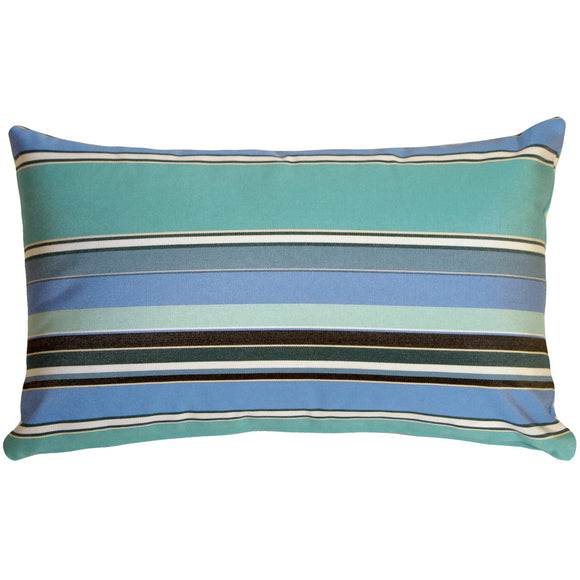 Sunbrella Dolce Oasis 12x20 Striped Indoor / Outdoor Pillow