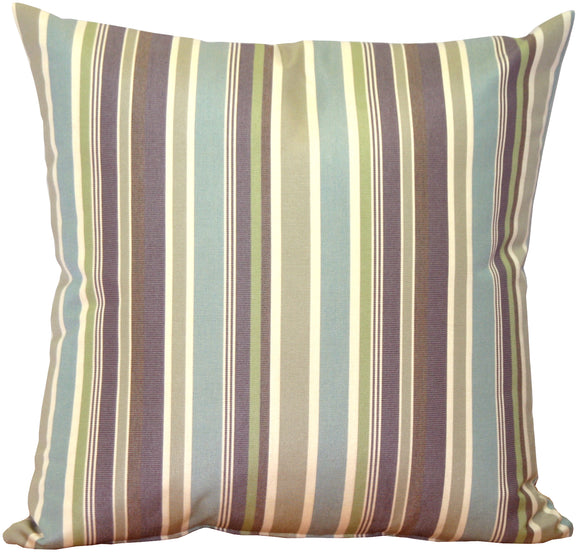 Sunbrella Brannon Whisper Stripes 20x20 Outdoor Pillow