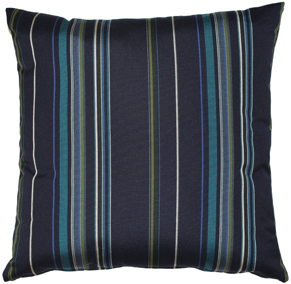 Sunbrella Stanton Lagoon 20x20 Striped Indoor / Outdoor Pillow