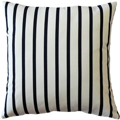 Sunbrella Lido Indigo Stripes 20x20 Striped Indoor / Outdoor Pillow