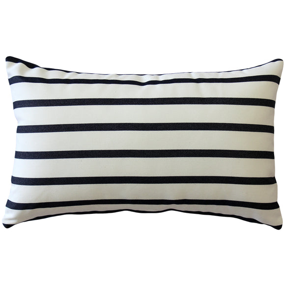 Sunbrella Lido Indigo Stripes 12x20 Striped Indoor / Outdoor Pillow