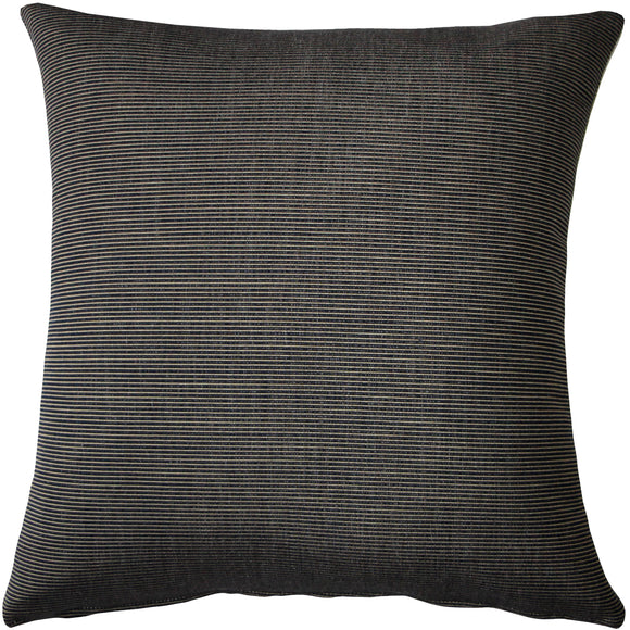 Sunbrella Rib Taupe-Black Outdoor Pillow 20x20