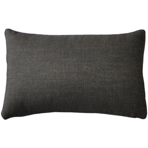 Sunbrella Rib Taupe-Black Outdoor Pillow 12x20