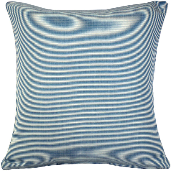 Sunbrella Rib White-Sky Blue Outdoor Pillow 20x20