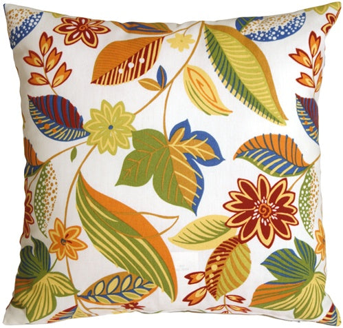 Solarium Skyworks Floral 18x18 Outdoor Throw Pillow