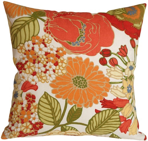 Sadie Pottery Barn Floral 17x17 Outdoor Throw Pillow