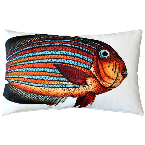 Surgeonfish Fish Pillow 12x20
