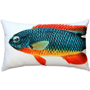 Guppy Fish Pillow 12x20