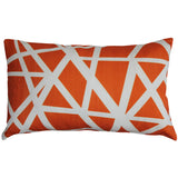 Bird's Nest Orange Throw Pillow 12X20