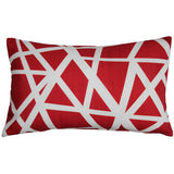 Bird's Nest Red Throw Pillow 12X20