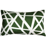 Bird's Nest Green Throw Pillow 12X20