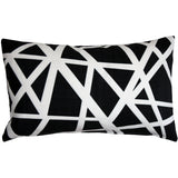 Bird's Nest Black Throw Pillow 12X20
