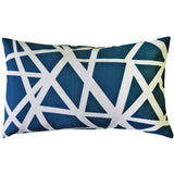 Bird's Nest Blue Throw Pillow 12X20