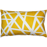 Bird's Nest Yellow Throw Pillow 12X20