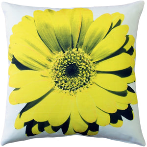 Bold Daisy Flower Yellow Throw Pillow 20X20