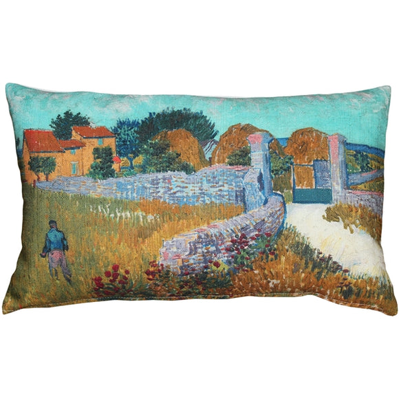 Van Gogh Farmhouse in Provence Throw Pillow