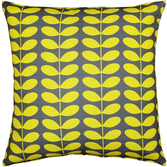 Mid-Century Modern Yellow Throw Pillow 20x20