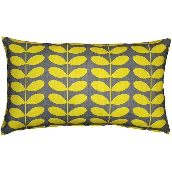 Mid-Century Modern Yellow Throw Pillow 12x20