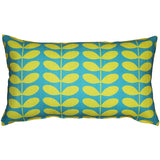 Mid-Century Modern Turquoise Throw Pillow 12x20