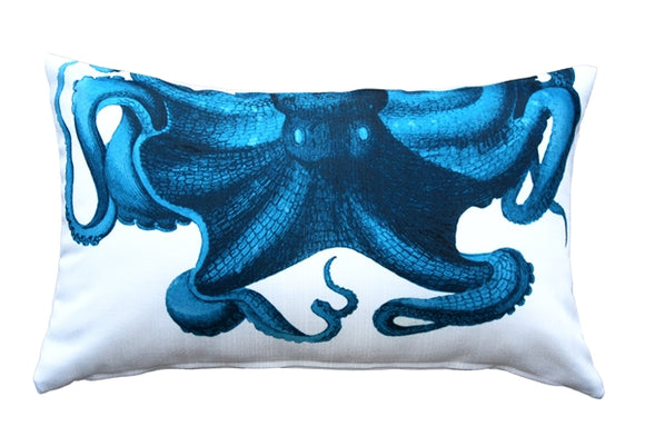 Octopus Throw Pillow 12X20