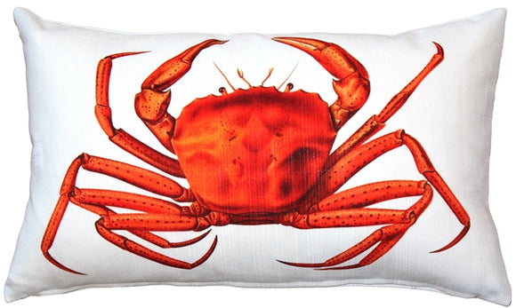 Crab Throw Pillow 12x20