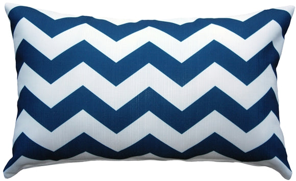 Chevron Bold Blue Throw Pillow 12X20