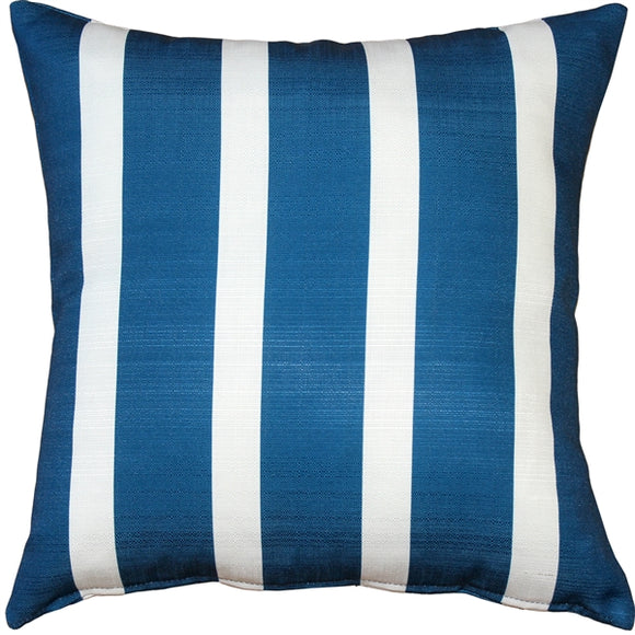 Bold Blue Stripes Throw Pillow 16x16