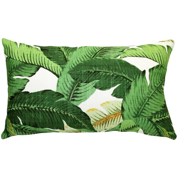 Bahama Leaf Throw Pillow 12x20