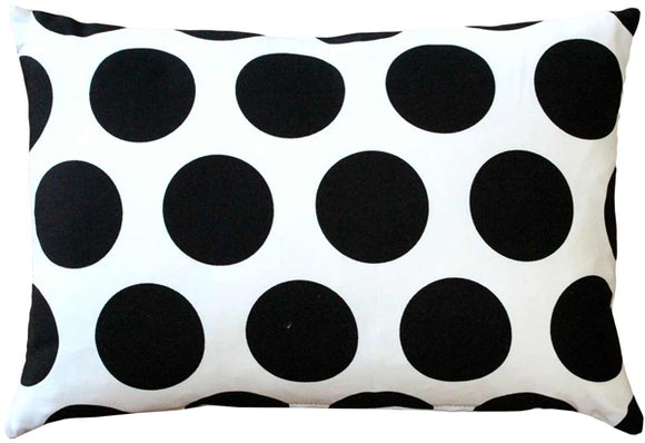 Dots and Stripes Throw Pillow 12x18