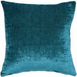Venetian Velvet Peacock Teal Throw Pillow 20x20