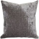 Venetian Velvet Cloud Gray Throw Pillow 20x20