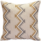 Tulum Ranch Embroidered Throw Pillow 20x20