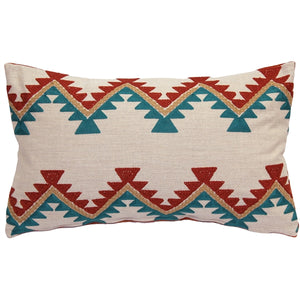 Tulum Coast Embroidered Throw Pillow 12x20
