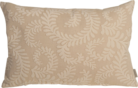 Brackendale Ferns Cream Rectangular Throw Pillow