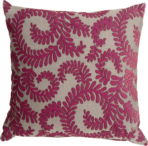 Brackendale Ferns Pink Throw Pillow