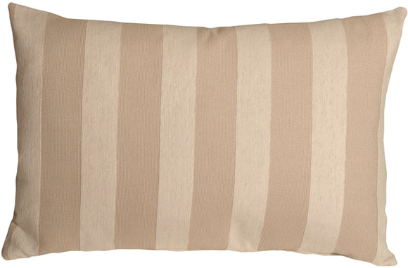 Brackendale Stripes Cream Rectangular Throw Pillow 16x24